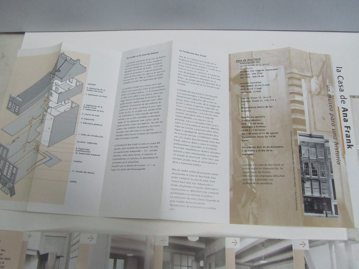 Diario De Ana Frank Folletos Del Museo De Amsterdam 30000 En
