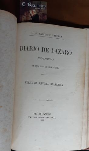 diário de lázaro - fagundes varella - 1ª edição - 1880