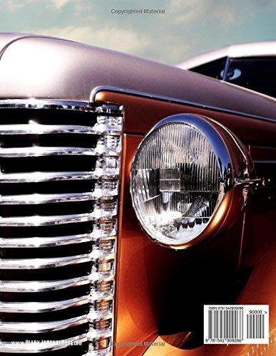 diario de libro en blanco portada de automóvil clásico cuade