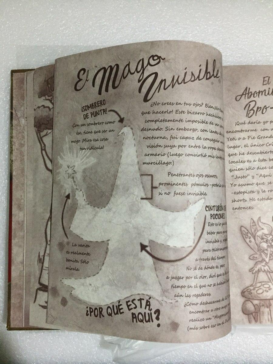 Diario Gravity Falls Tinta Invisible Espanol Pasta Dura