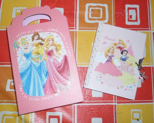 diario intimo con cartera doctora juguetes, minnie,princesas
