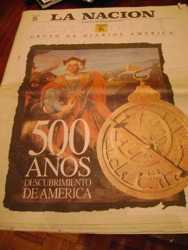 diario la nacion 1992 a los 500 años descubrimiento américa