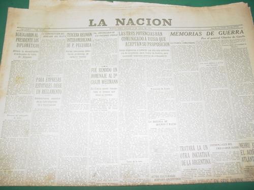 diario la nacion 23/4/55 diplomaticos agasajan a gral. peron