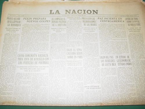 diario la nacion 24/1/55 franco aclara concepto de monarquia