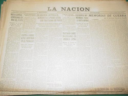 diario la nacion 27/2/55 nueva central en mar del plata