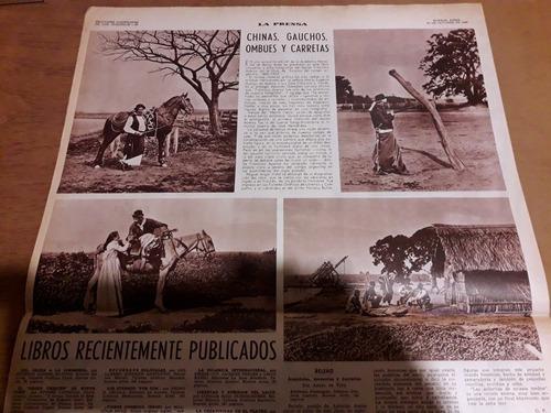 diario la prensa chinas gauchos ombues y carretas 20/10/1968