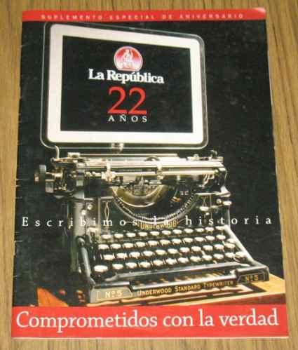 diario la república 22 años suplemento aniversario 2003