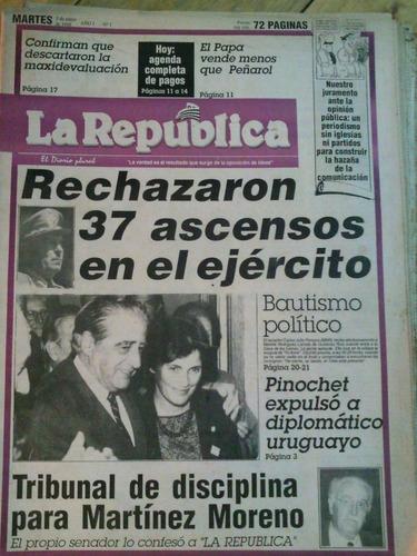 diario la república , 5 primeros números, 03/05/88