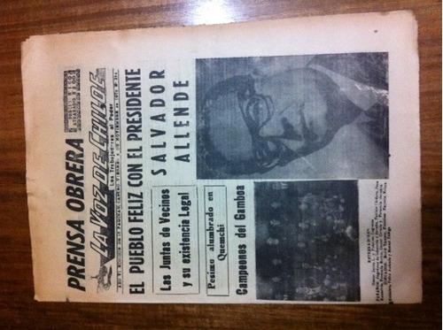 diario la voz de chiloé 6 nov 1970 pueblo feliz con allende