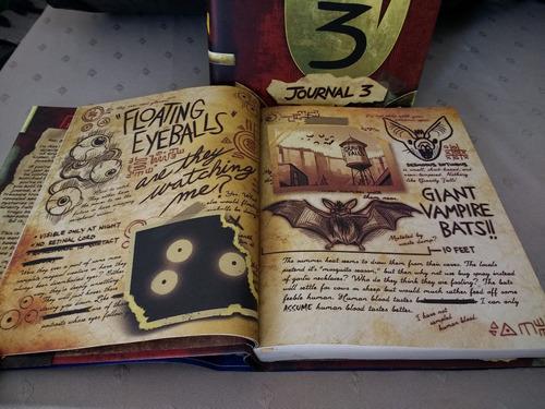 diario libro gravity falls tapa dura original disney inglés