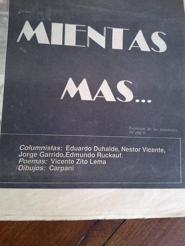 diario los descamisados nº 1 1986 alfonsín carpani duhalde