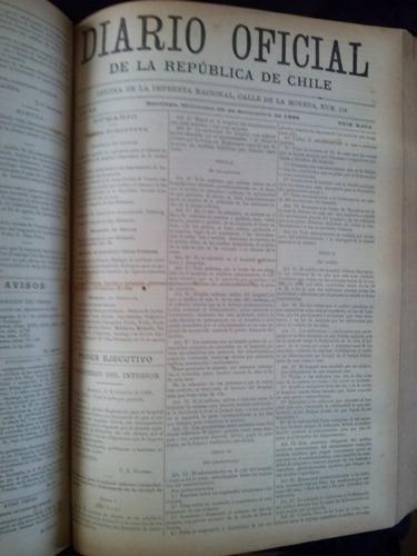 diario oficial de la republica de chile 1888