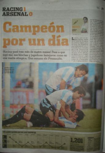 diario ole 14/4/2008-racing/arsenal/river/tigre/boca/velez