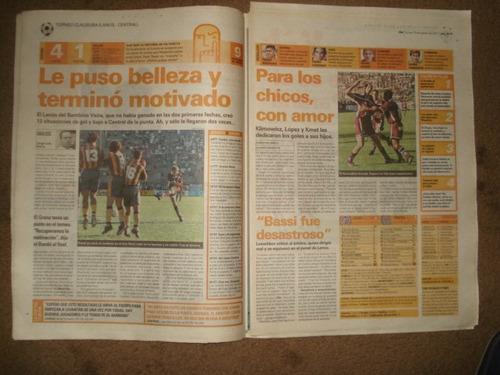 diario ole 20-9-1999/ velez 3 boca 1/apertura 1999/ fecha 7