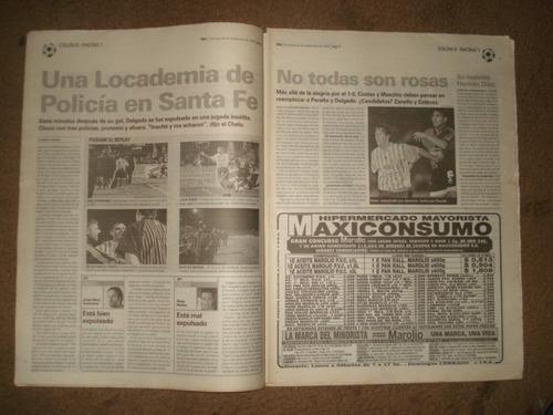 diario ole 26/09/99-herores-colon 0 racing 1- apertura 1999