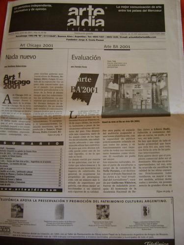 diario periodico arte al día nº 89,90 y 93 2001