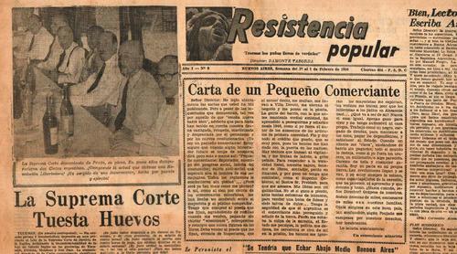 diario resistencia popular - 7 de febrero de 1956 juan peron