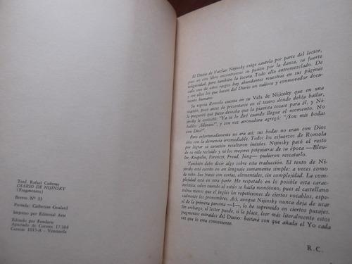 diarion de nijinski fragmentos traduccion rafael cadenas