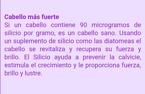 diatomea suplemento organico previene la calvicie iphone