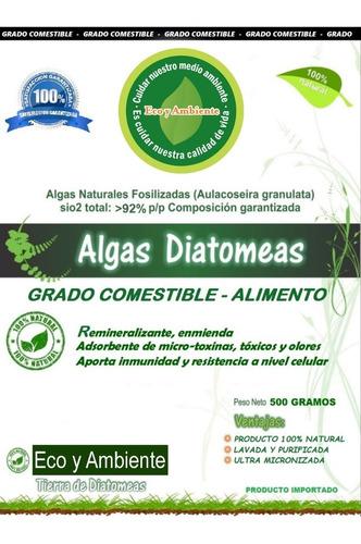 diatomeas grado comestible, premium, micronizada + certificado por 500gr, belgrano