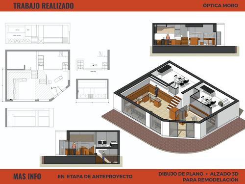 dibujante cadista planos 2d, sketchup 3d ploteos