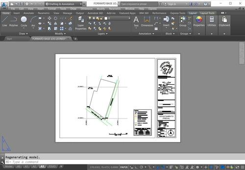 dibujante de topografía, loteos, regularizacion mbn