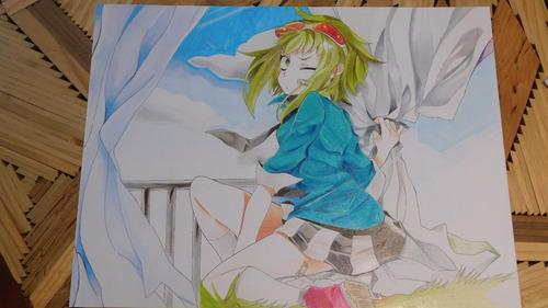dibujo anime de gumi megpoid vocaloid prismacolor premier