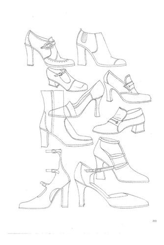 dibujo de figurines para el diseño de modas