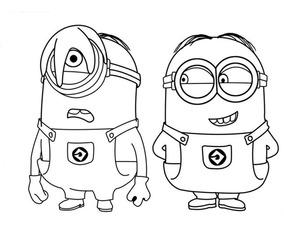 Dibujo De Minions Para Colorear