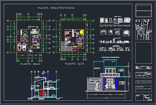 dibujo de planos 2d y 3d autocad - sketchup