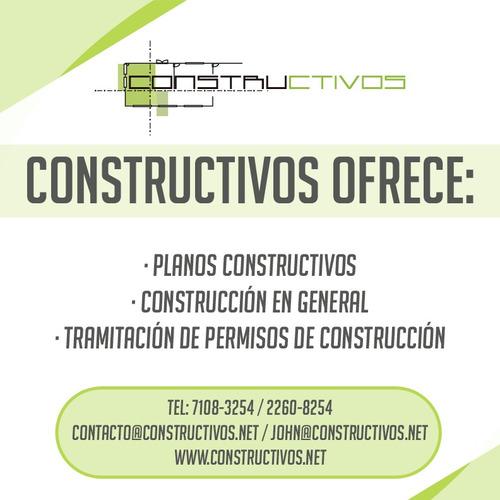 dibujo de planos constructivos, permisos de construccion
