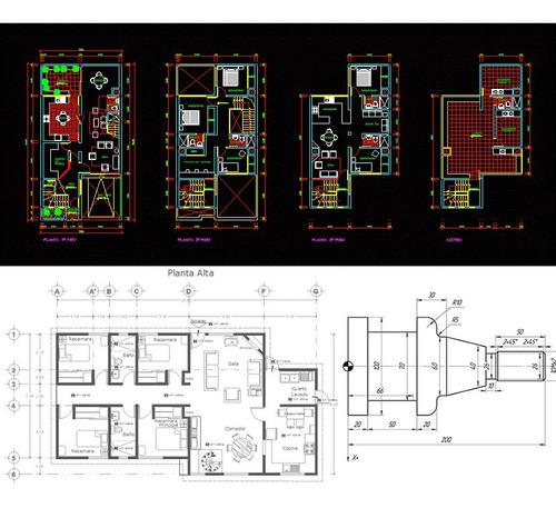 dibujo de planos en autocad y servicio tecnico de pc