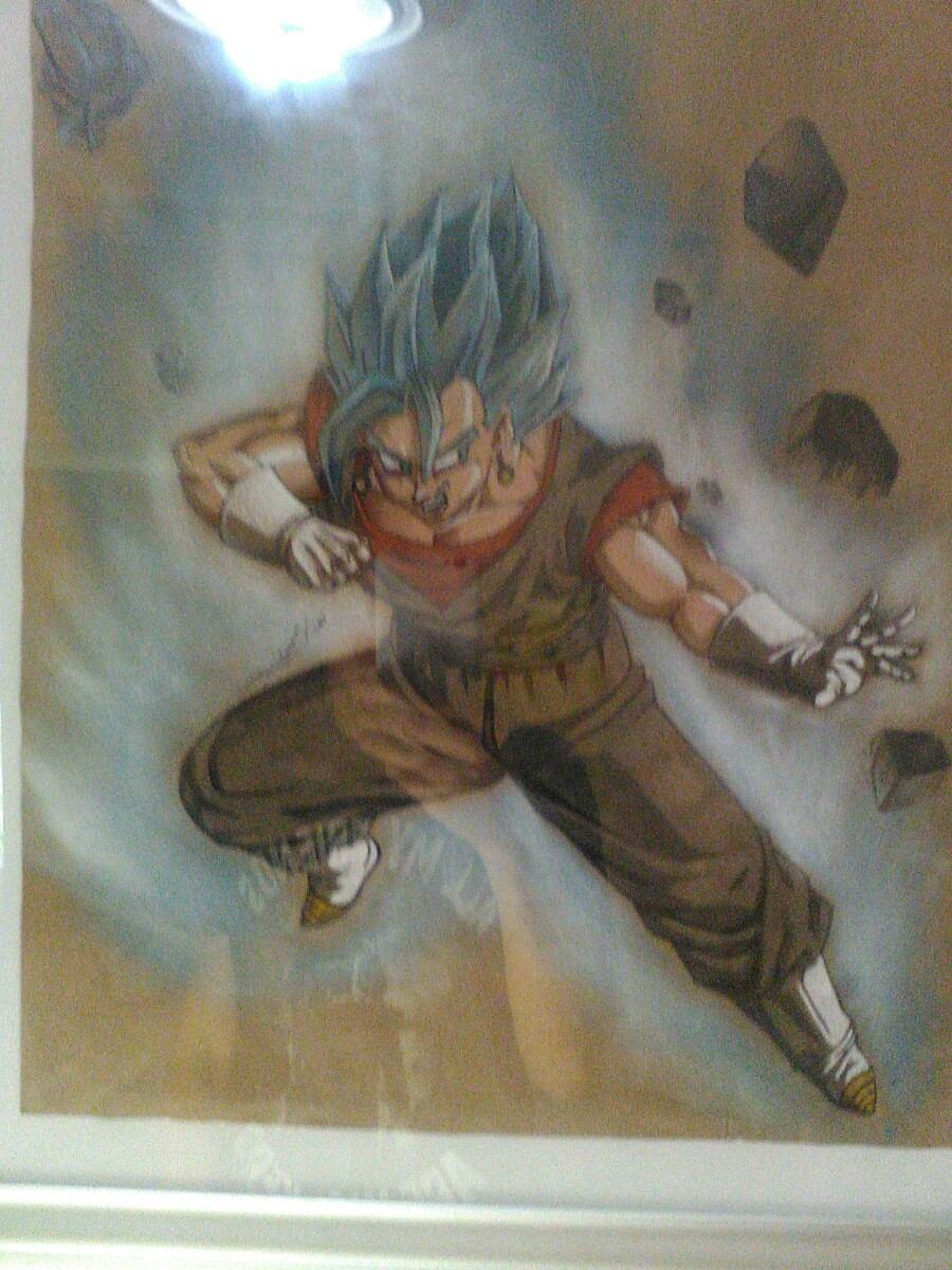 Dibujo Dragon Ball Super Con Marco - $ 700.00 en Mercado Libre