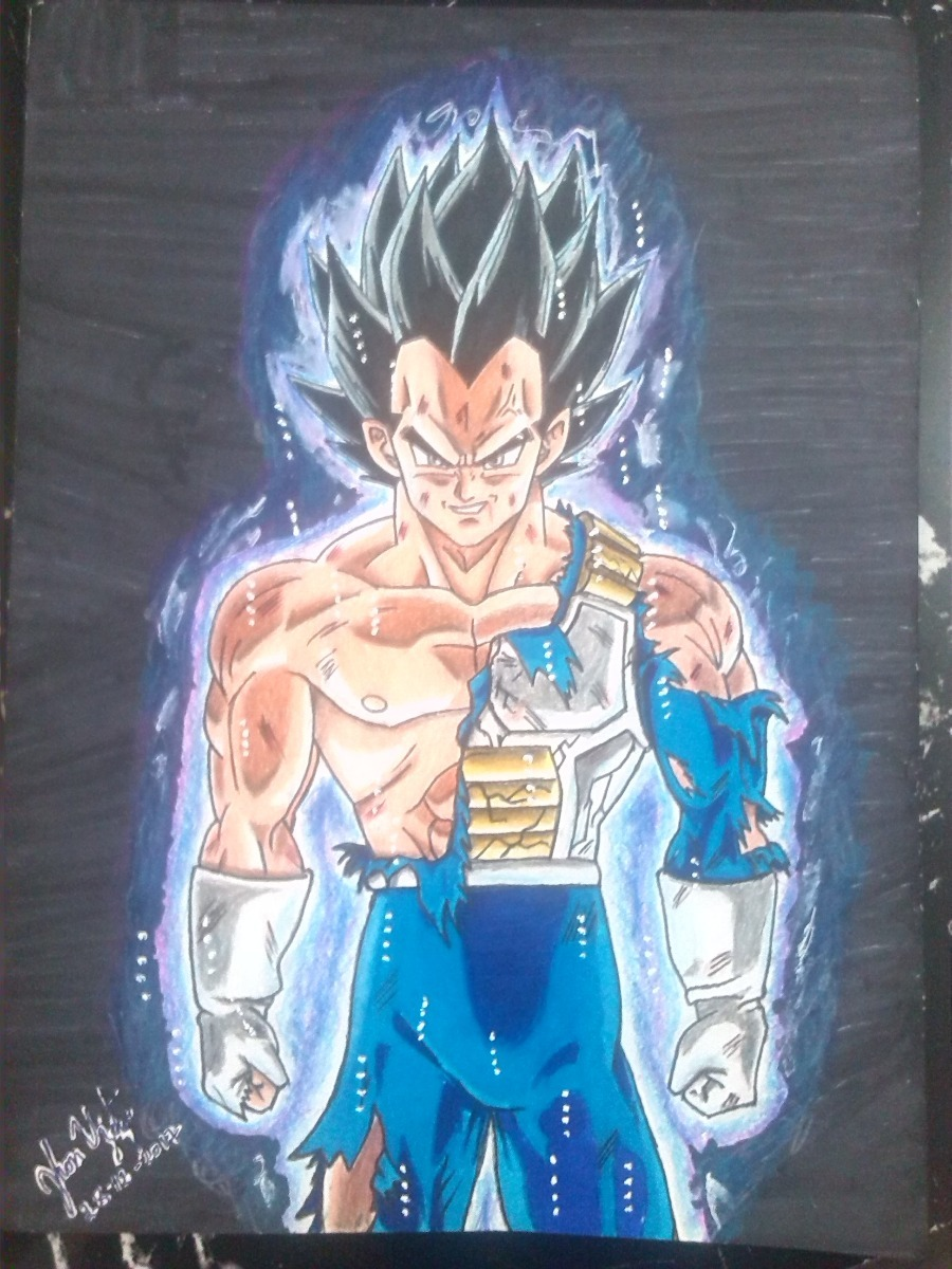 Dibujo Estilo Afiche A Color De Vegeta Dragon Ball Super Bs 50 00