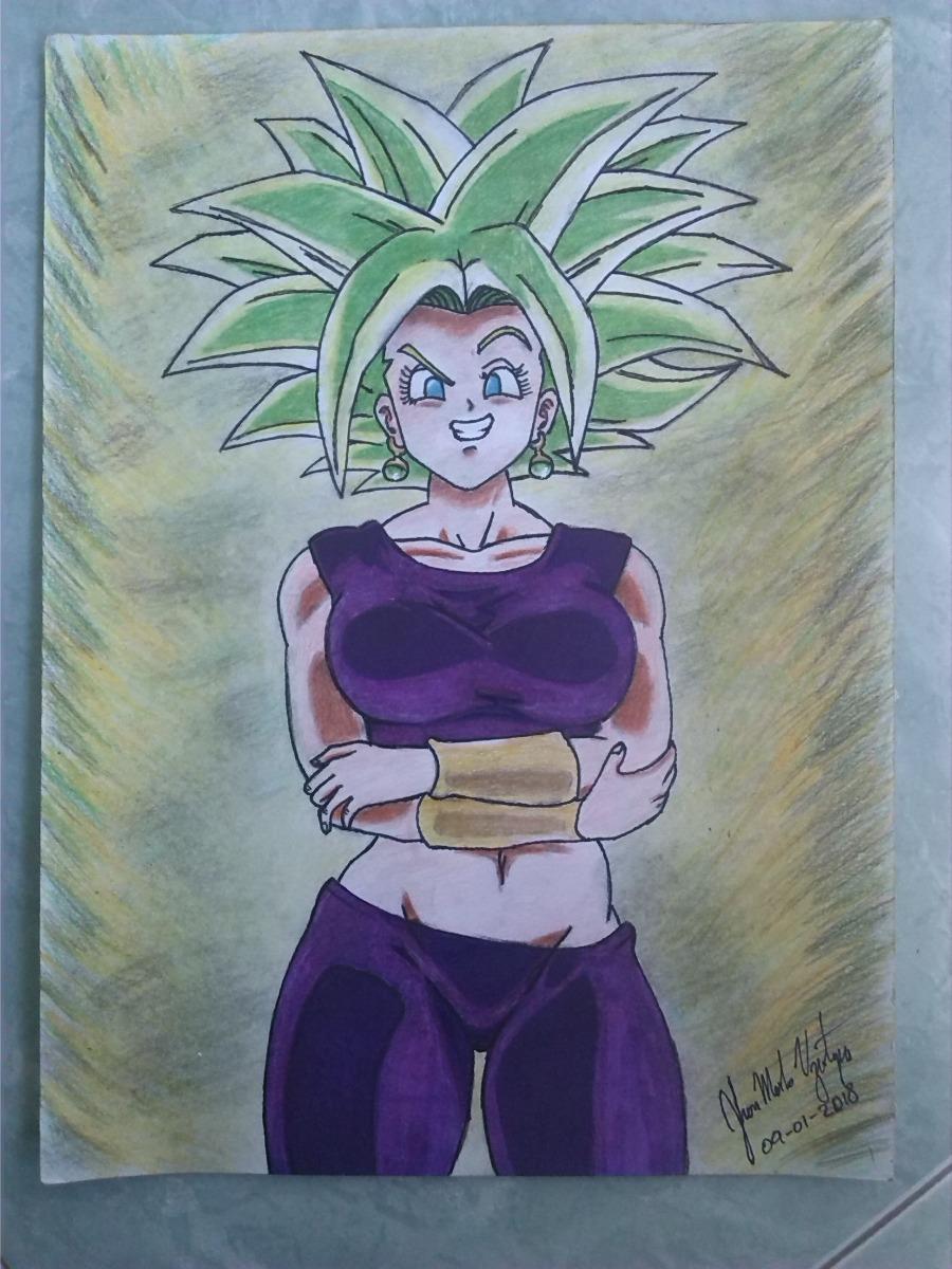 Dibujo Estilo Afiche De Kefla Ssj Fusion Caulifla Y Kale