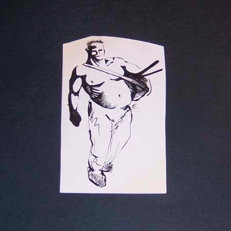dibujo original realizado para la revista clepsidra . 105