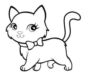 Dibujo P Colorear Gatitos Varios Modelos