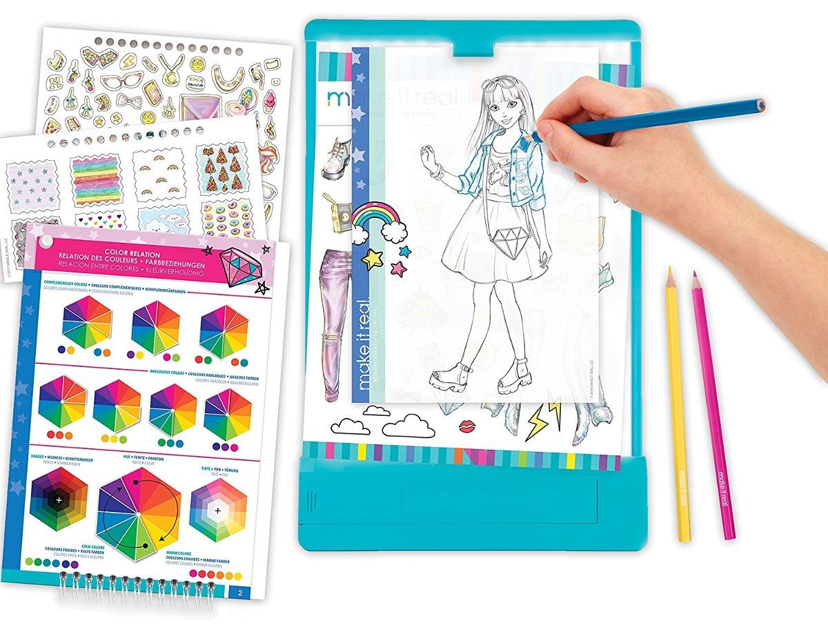 Dibujo Para Colorear Diseño De Moda Y Mega Set Arte W Mesa