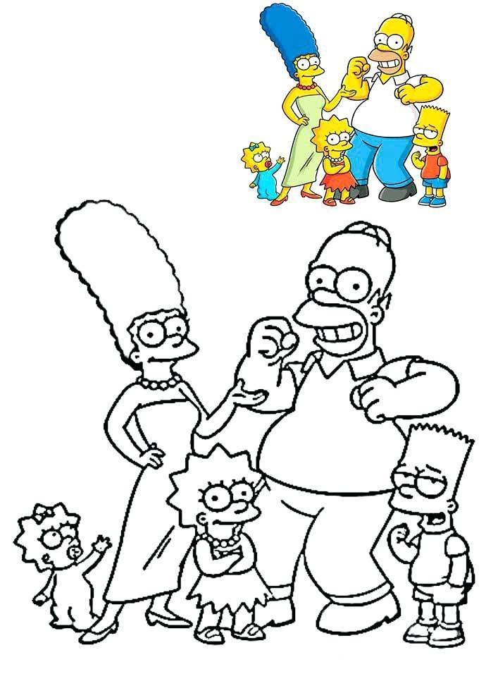 Dibujo Para Colorear Simpsons