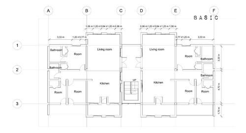 dibujo planos arquitectura autocad modelado 3d render revit