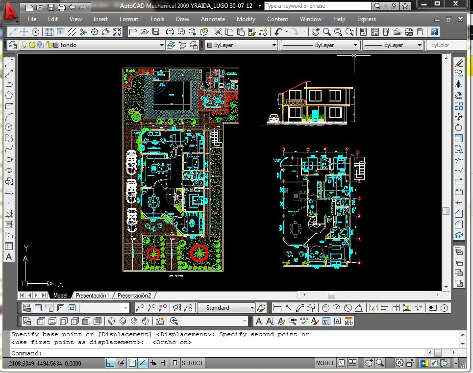 Dibujo planos de arquitectura y mecanicos en autocad 2d y for Planos de cocinas autocad