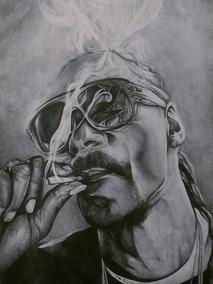 Dibujo Realista A Lapiz De Snoop Dogg