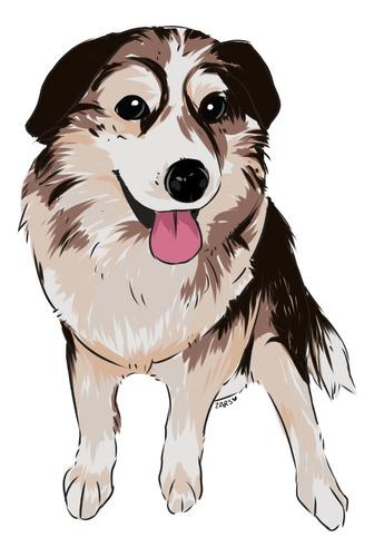 dibujo sketch de mascotas