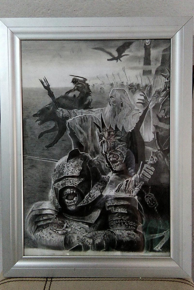 Dibujo The Lord Of The Rings, Grafito Sobre Opalina - $ 1,000.00 en ...