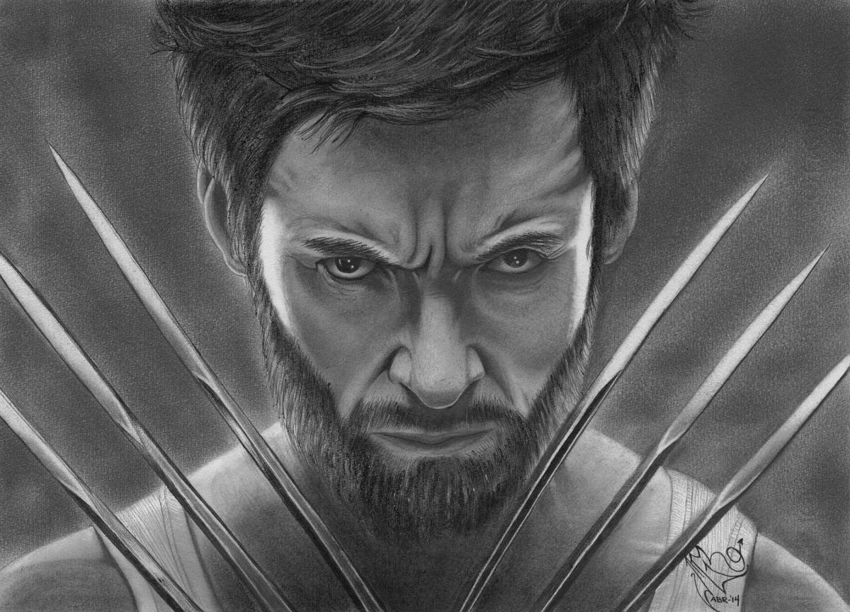 Dibujo Wolverine Hugh Jackman Marvel Lapiz X-men Comics
