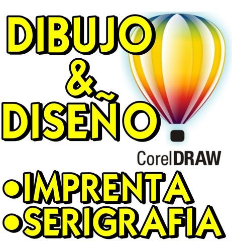 dibujo y diseño en corel draw para serigrafia e imprenta
