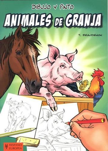 dibujo y pinto animales de granja, hispano europea