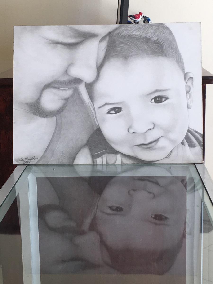 Dibujos A Lapiz Carboncillo Retrato Arte Profesional 500 00 En