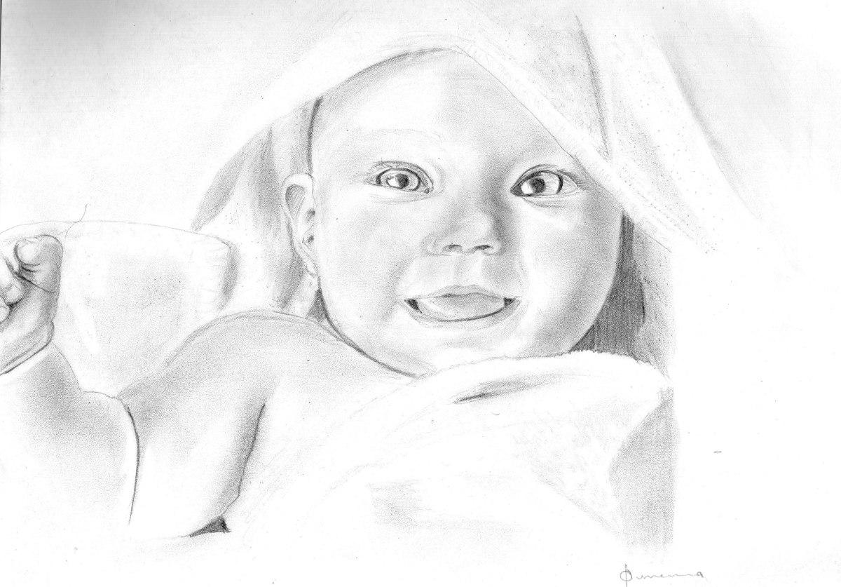 Dibujos A Lapiz De Bebes Recien Nacidos