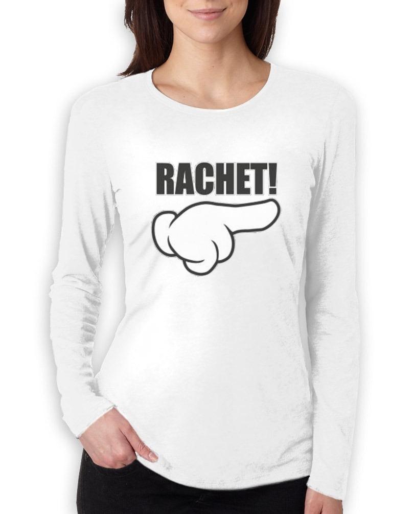 Dibujos Camiseta De Animados Mujeres Mano Larga Manga Rachet 8nf7Z8 a665d5d47a8b0